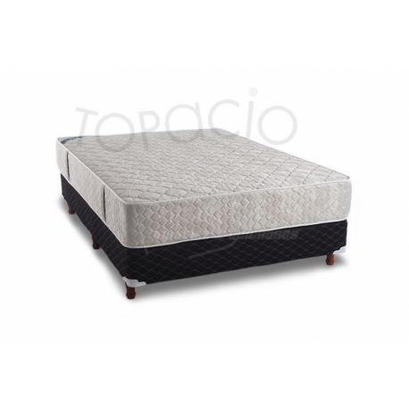 Colchón/Sommier Topacio AXIS Resortes + Espuma  100x 190 - Sensación Medio Suave