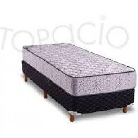 Colchon Y SommierTopacio Esmeralda 1  1/2Plaza 90x190x22 SENSACIÓN FIRME