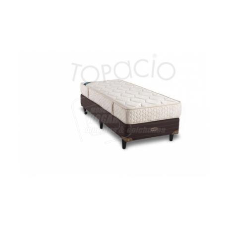 Colchon/Sommier Topacio Marfil Alta Densidad 1 Plaza 80x190x22 Sensación ULTRA FIRME